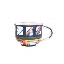 2 – Kaffeetasse – Dekor Regenbogen
